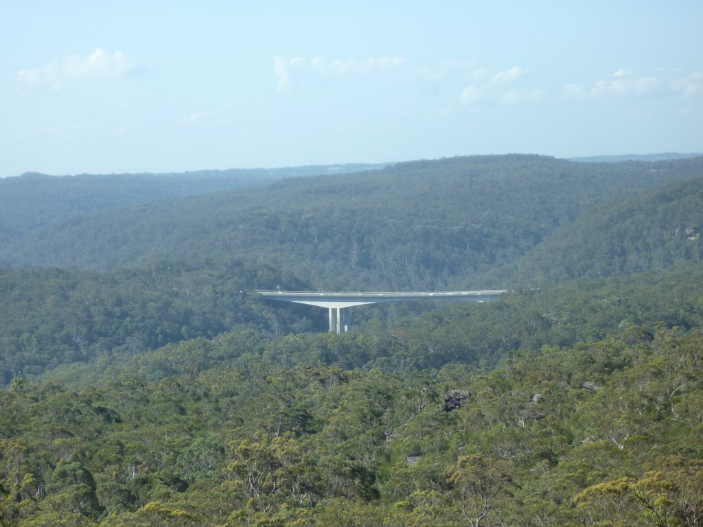 View of Mooney Mooney F3 freeway bridge from north of Scopas Peak (375025)