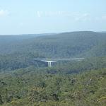 View of Mooney Mooney F3 freeway bridge from north of Scopas Peak (375025)