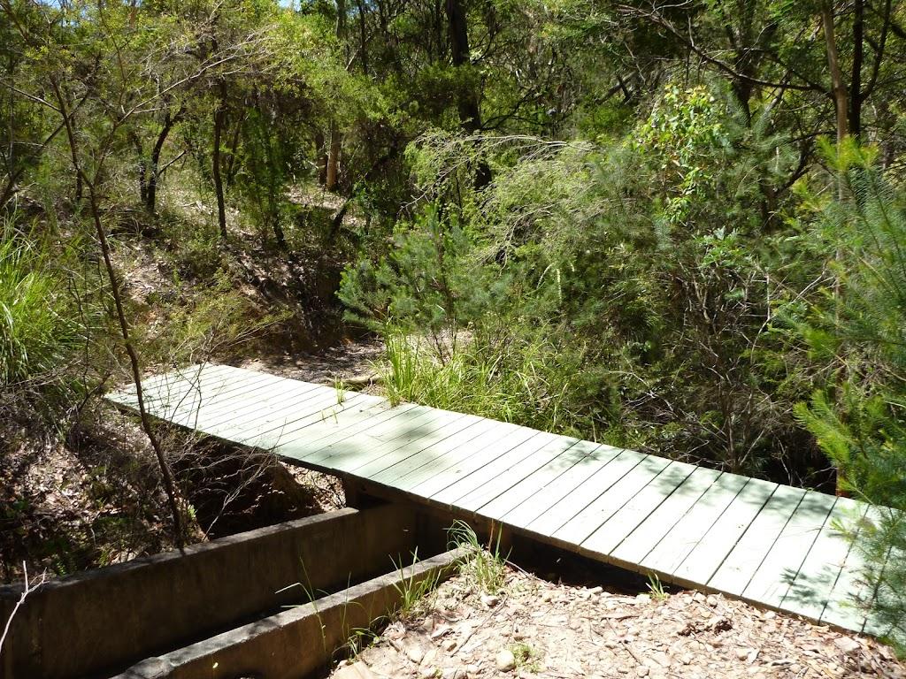 Flat bridge crossing channel