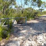 Walking through the gate on the Hawkesbury trail
