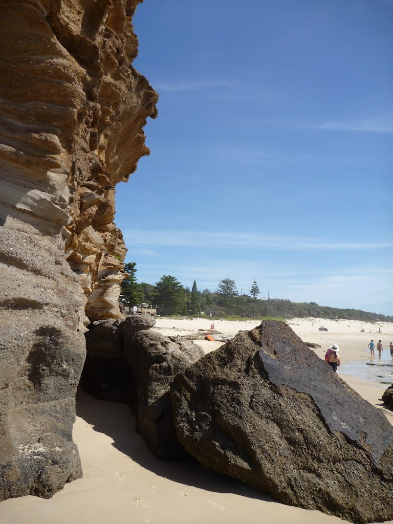 Caves beach caves with Caves Beach beyond (387323)