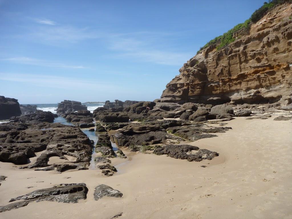 Rock pools at Caves Beach