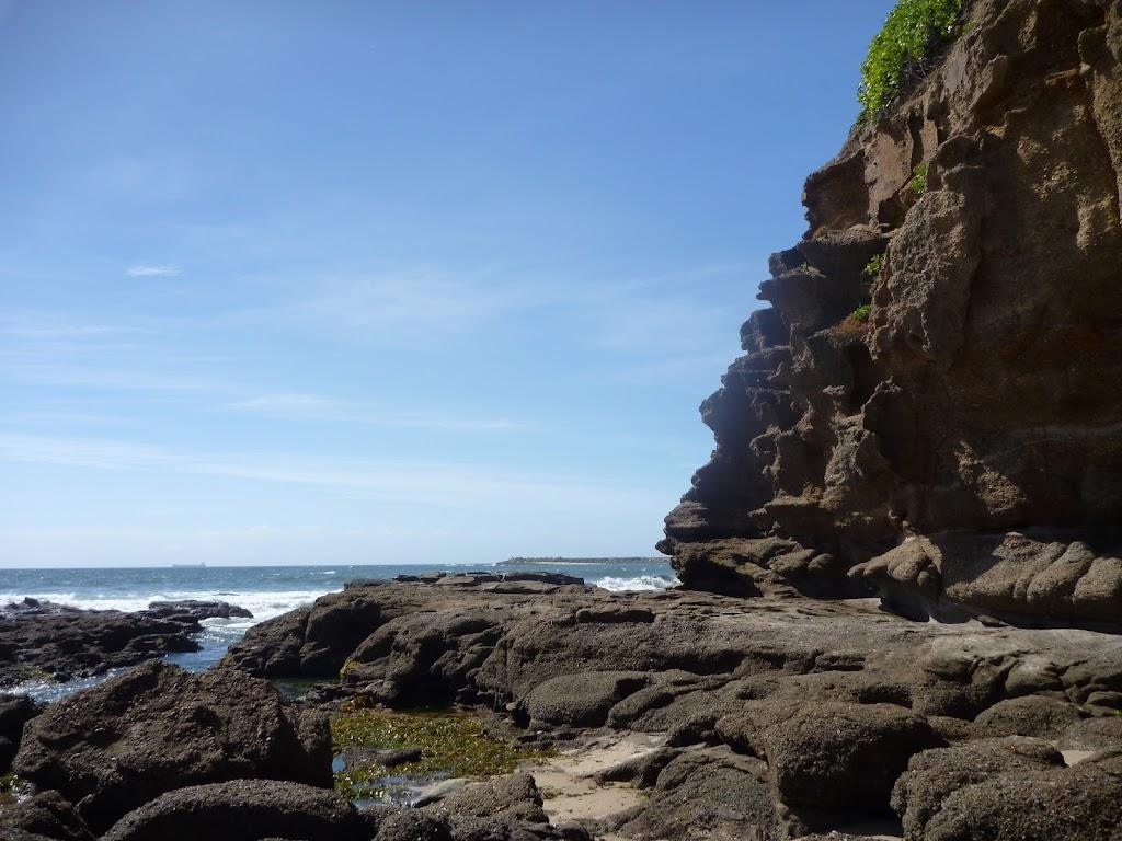 Rock platforms at Caves Beach Caves