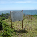 Blank sign on the coastal walk in the Wallarah Pennisula  (388025)