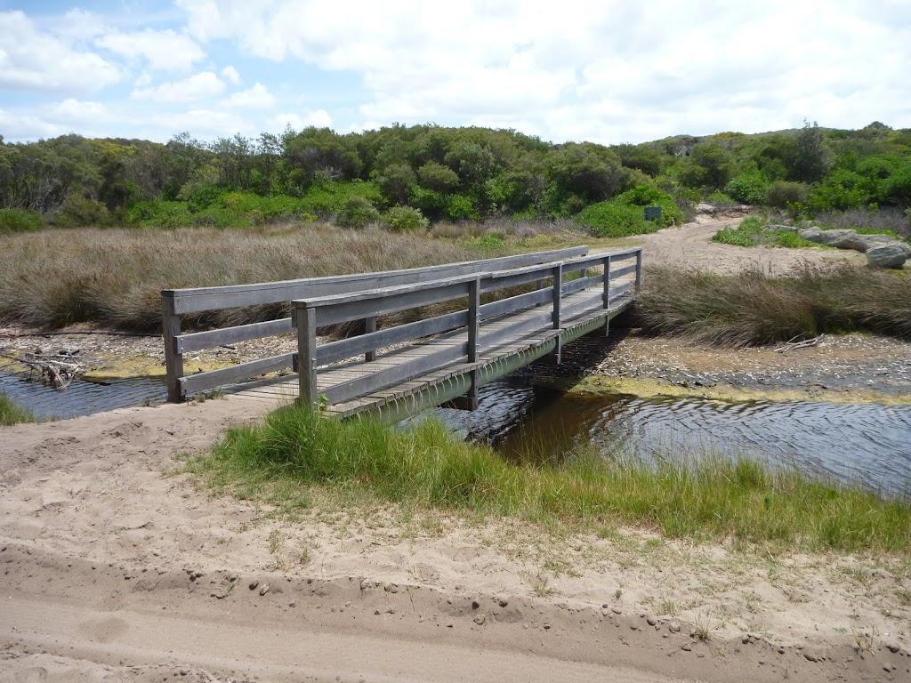 Timber bridge over Pinney's Creek in the Wallarah Pennisula