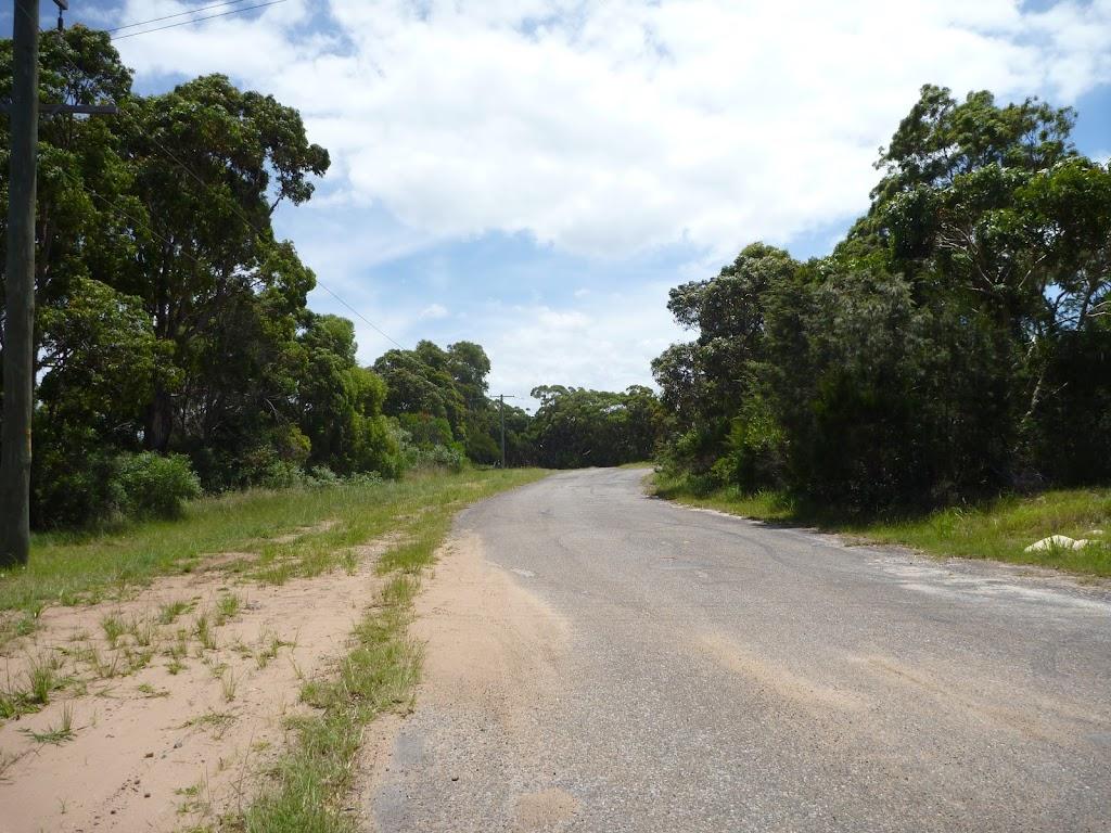 Sealed level road on the coastal walk in the Wallarah Pennisula