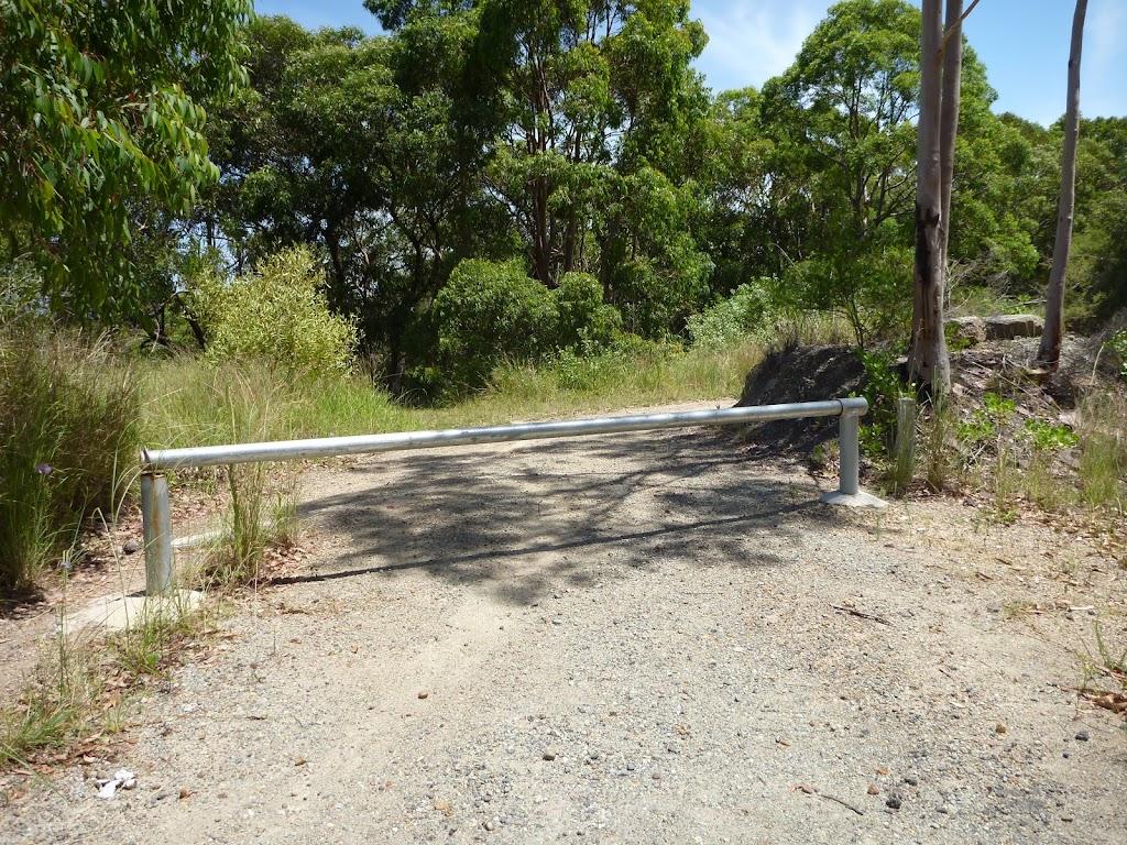 Locked metal gate on the coastal walk in the Wallarah Pennisula