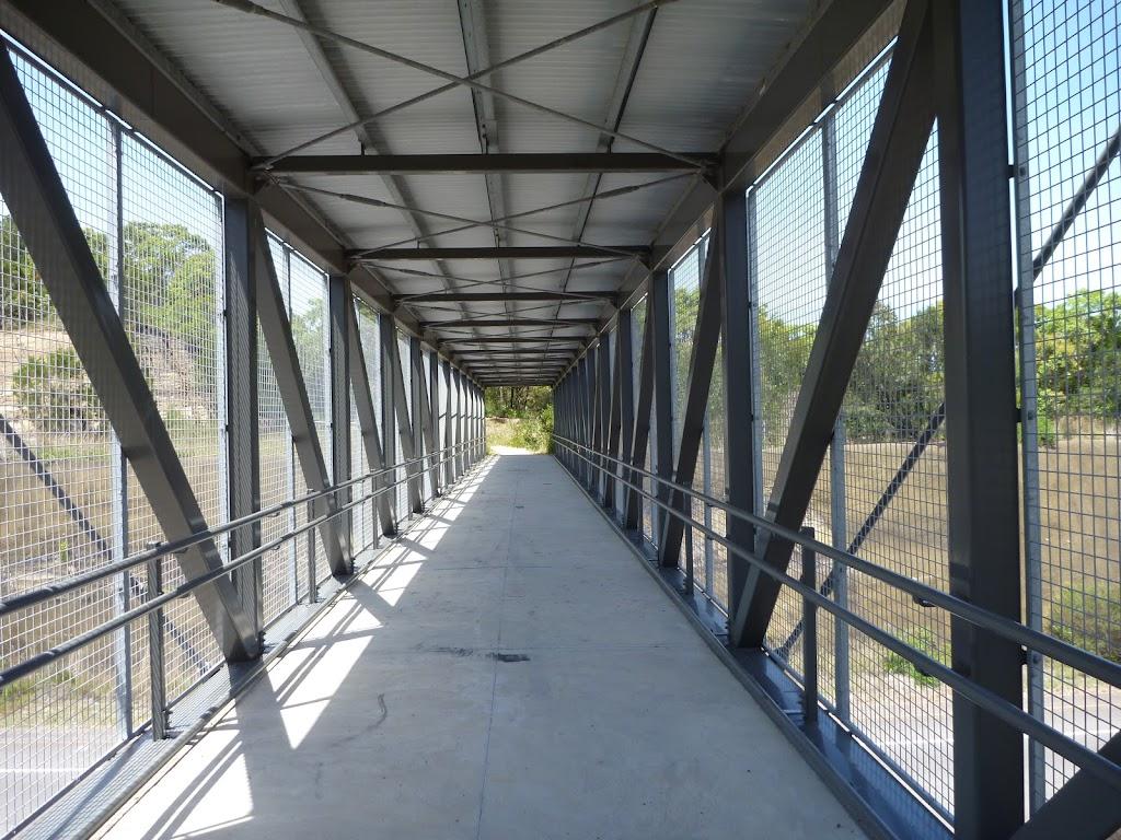 The Pedestrian over bridge on the Wallarah Pennisula Walk