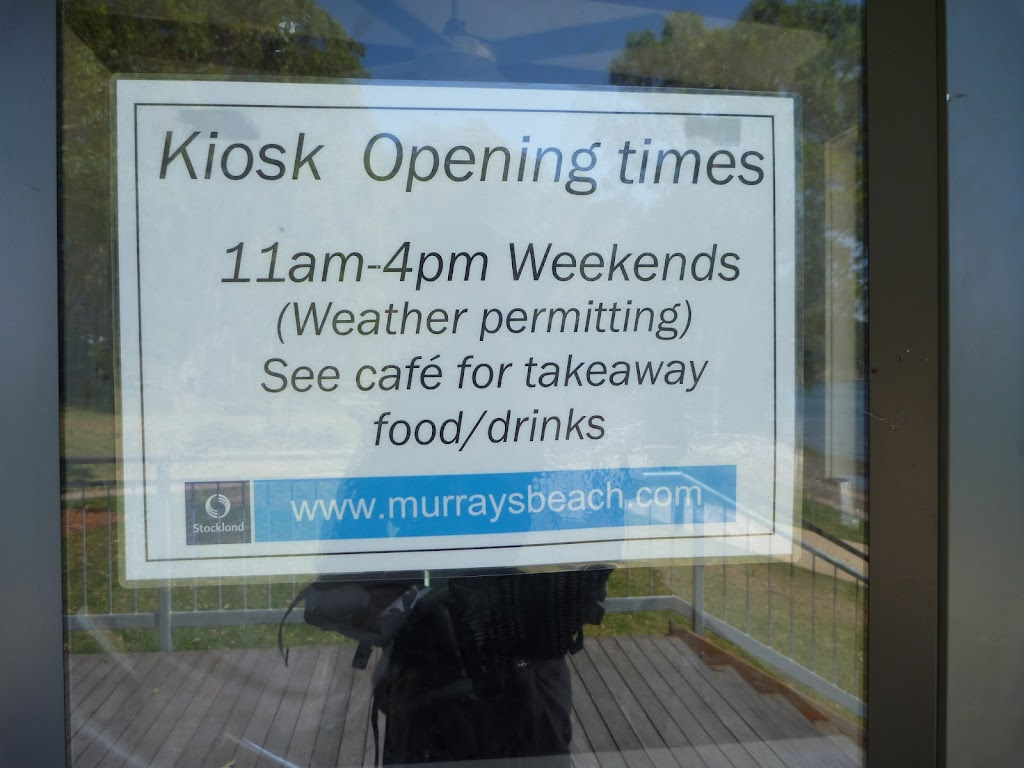 Signage for the kiosk at Murray's Beach on Lake Macquarie