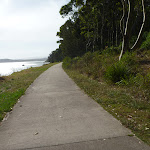 Sealed shared footpath next to Lake Macquarie in Green Point Reserve (389369)