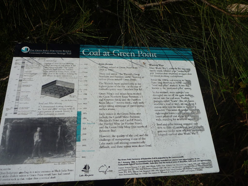 Interpretive signs along the Foreshore Track