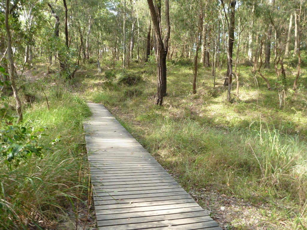 Timber boardwalk in Green Point Reserve