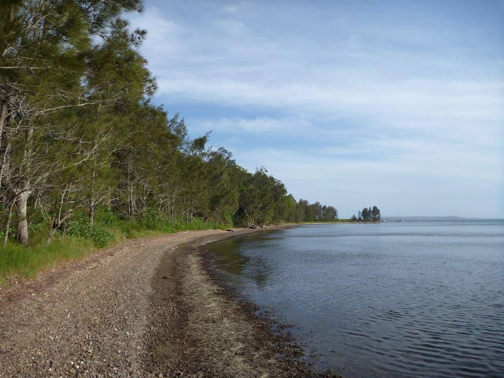 Scenic beach on Lake Macquarie