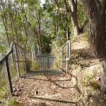 Metal staircase near Rocky-high view point