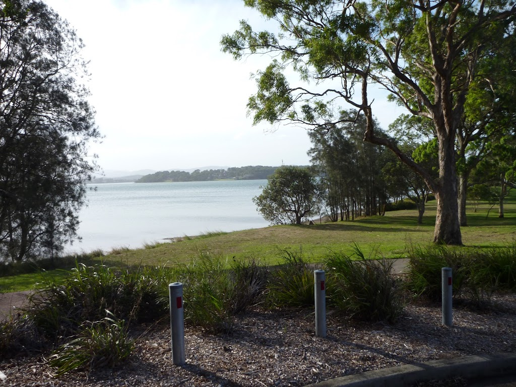 Parkland near Dilkera Ave, Valentine, with Lake Macquarie beyond
