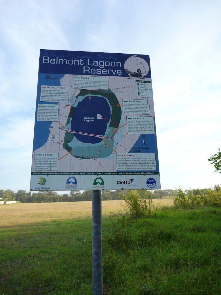 Belmont Lagoon Sign off Beach Road in Belmont