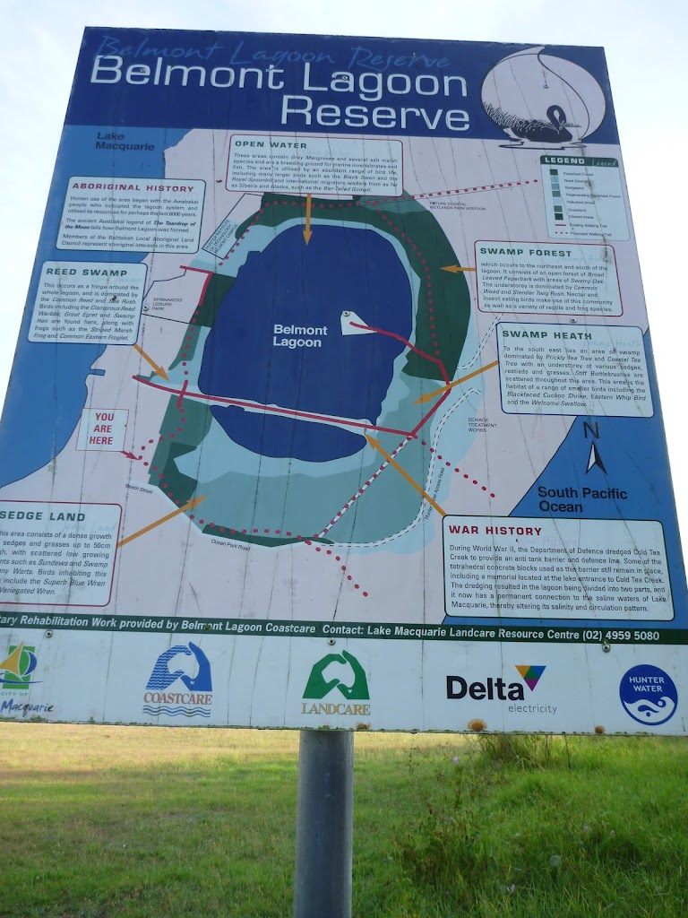 Belmont Lagoon Signage at Belmont Lagoon Car Park