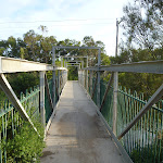 Metal foot bridge over creek at Belmont Lagoon (390131)