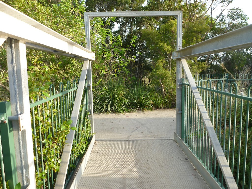 Metal foot bridge over the creek at Belmont Lagoon (390143)