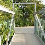 Metal foot bridge over the creek at Belmont Lagoon (390143)
