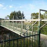 Metal foot bridge over the Belmont Lagoon (390155)