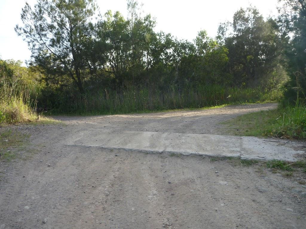Concrete block at Belmont Lagoon