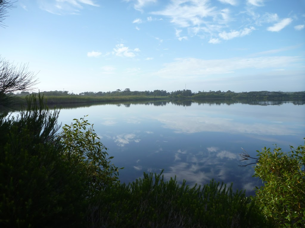 Views over the Belmont Lagoon from the spit