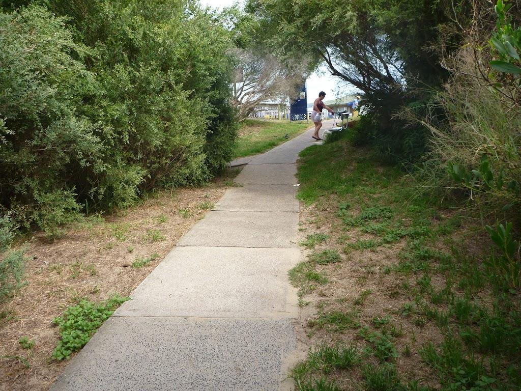 Footpath near the Cain's Street Car Park on the Owens Walkway in Redhead