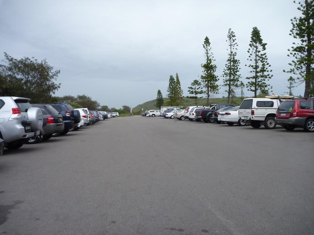 Cars in the Redhead car park
