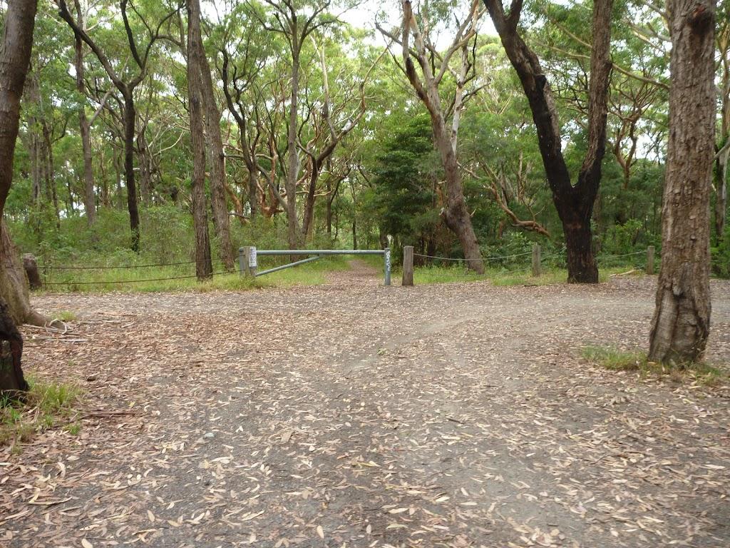 Locked gate at the Awabakal Car Park near Dudley