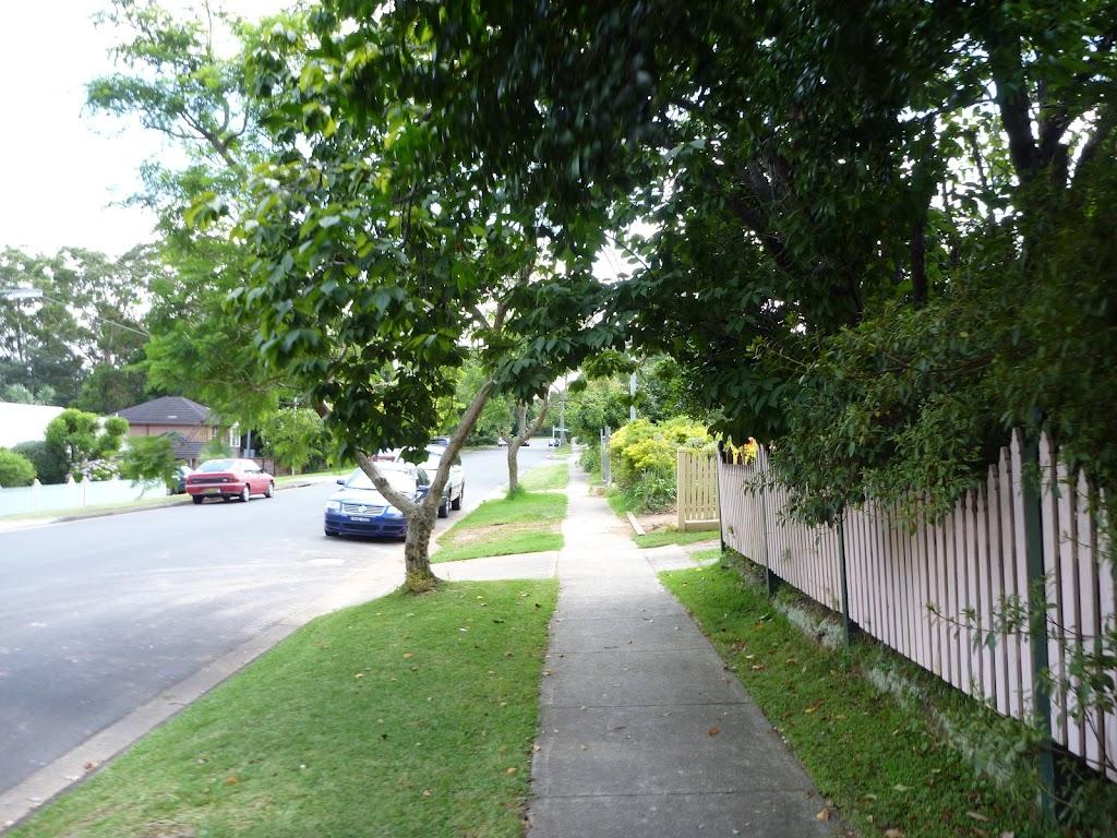 Walking along Handley Ave