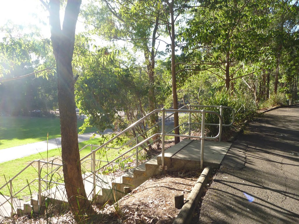 Concrete steps in Carnley Avenue Reserve in Blackbutt Reserve