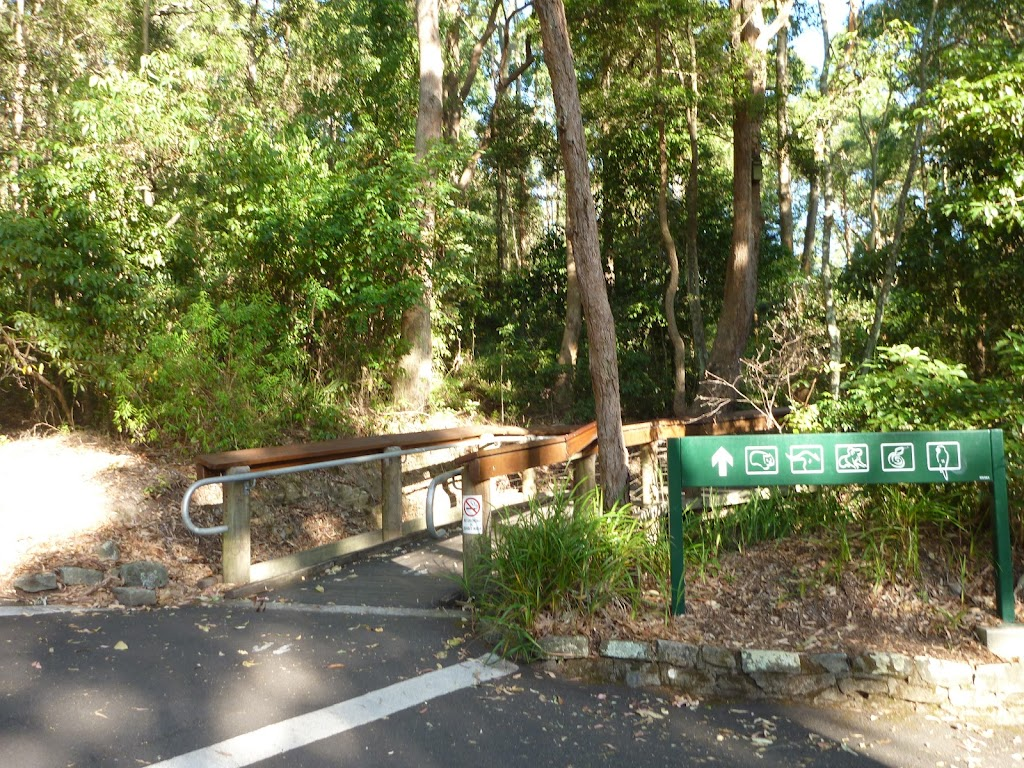 Wildlife Exhibit boardwalk entrance at Carnley Ave Reserve in Blackbutt Reserve