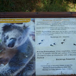 Signage at the Wildlife Exhibits at Carnley Ave Reserve (399385)