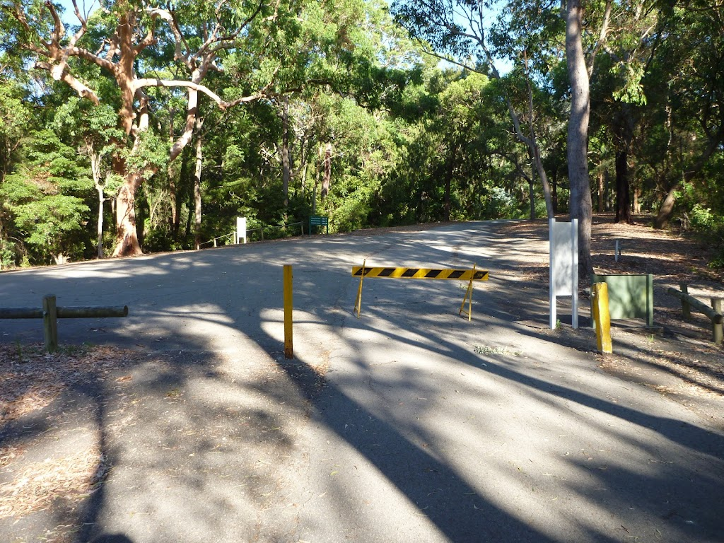 The end of Lookout Rd in the Blackbutt Reserve