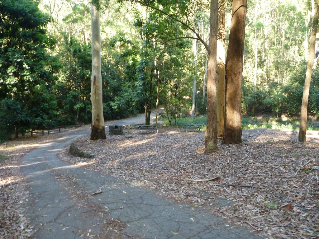 Small picnic area in the Blackbutt Reserve