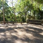 Lookout Road turning vehicle turning circle in Blackbutt Reserve