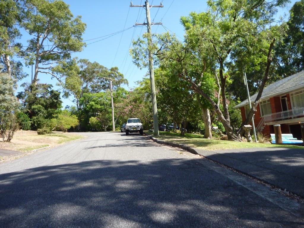 Road in New Lambton Heights near Blackbutt Reserve