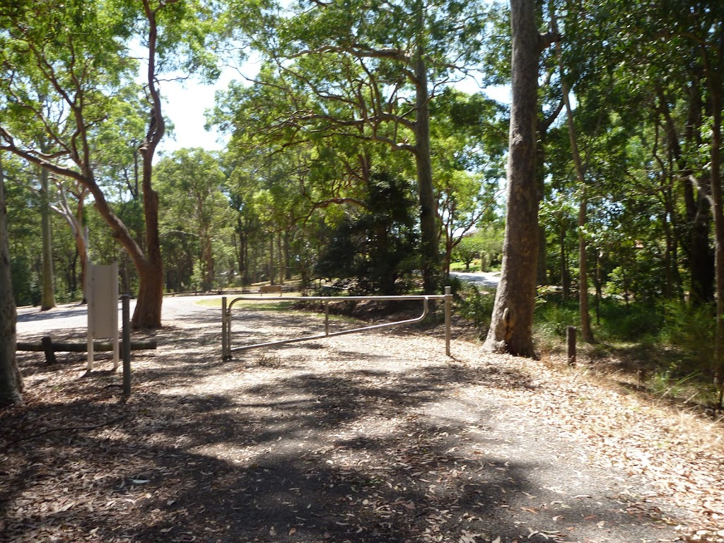 Mahognay picnic area locked gate in Blackbutt Reserve