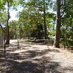Mahognay picnic area locked gate in Blackbutt Reserve