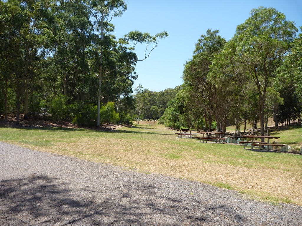 Trail and open grasslands in Richley Reserve in Blackbutt Reserve