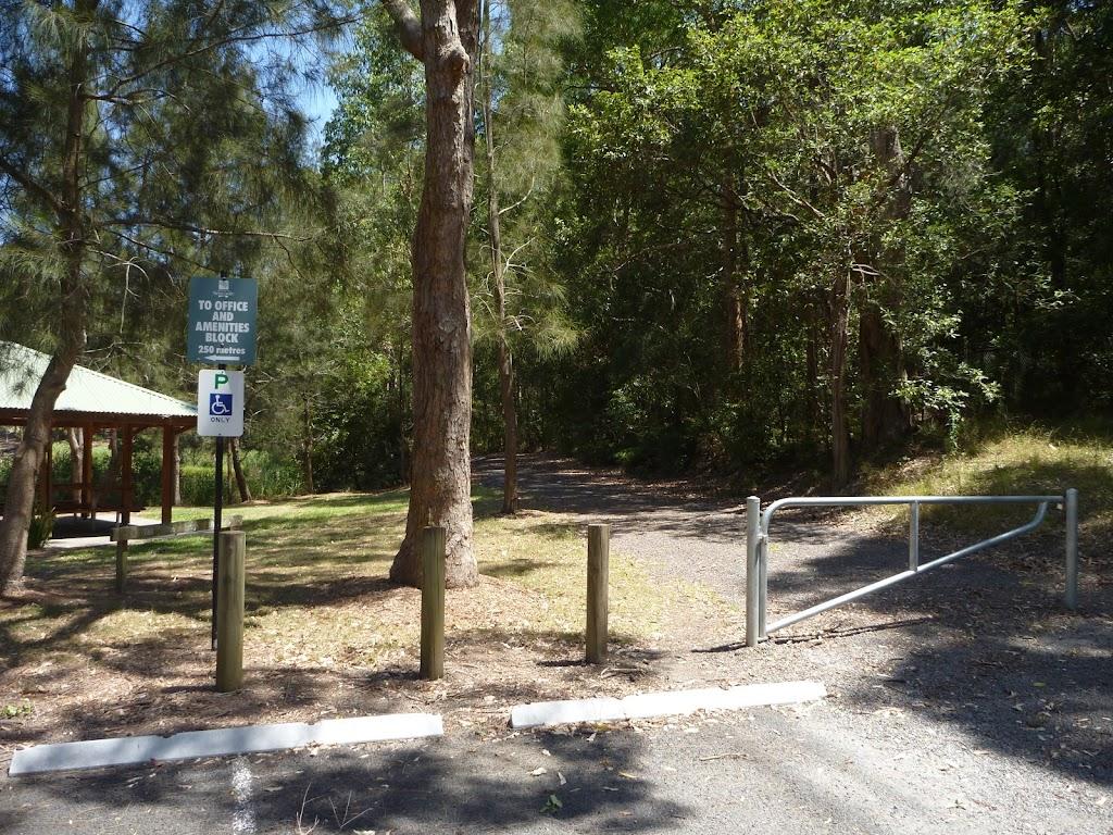 Locked gate in Richley Reserve in Blackbutt Reserve