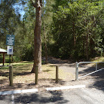 Locked gate in Richley Reserve in Blackbutt Reserve