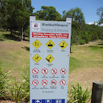 Blackbutt Reserve sign in Richley Reserve (401752)