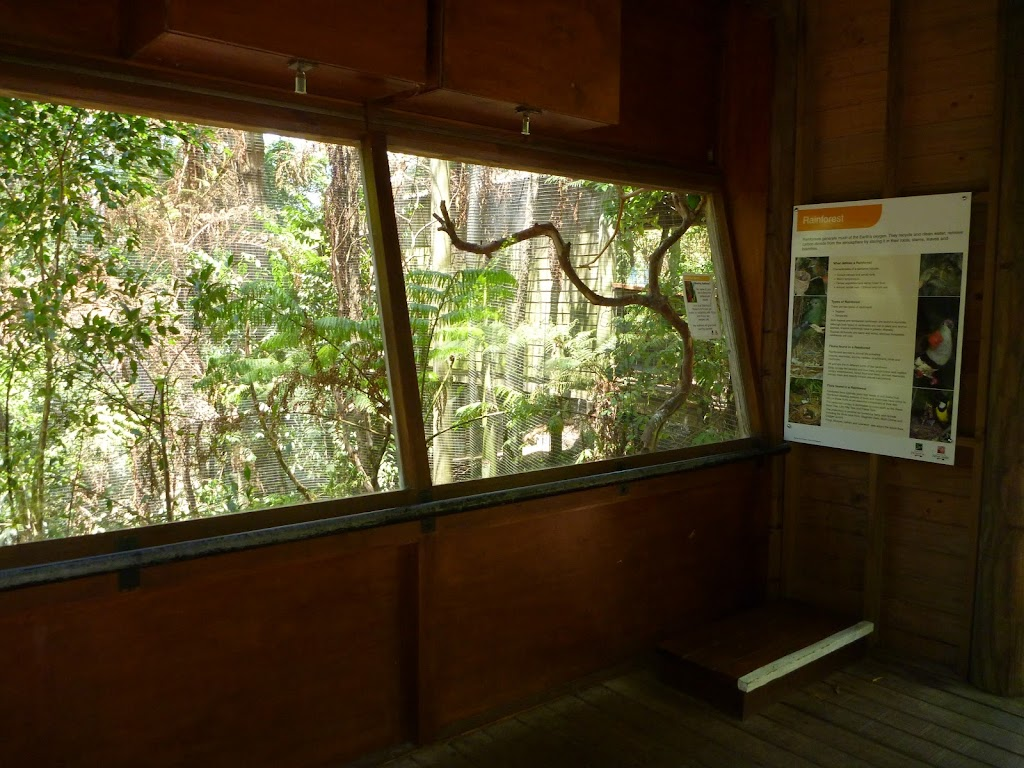 Bird hide at the Wildlife Exhibits in Carnley Avenue Reserve