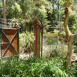 Fenced gateway into the Wildlife Exhibits at Carnley Avenue Reserve in Blackbutt Reserve (402157)