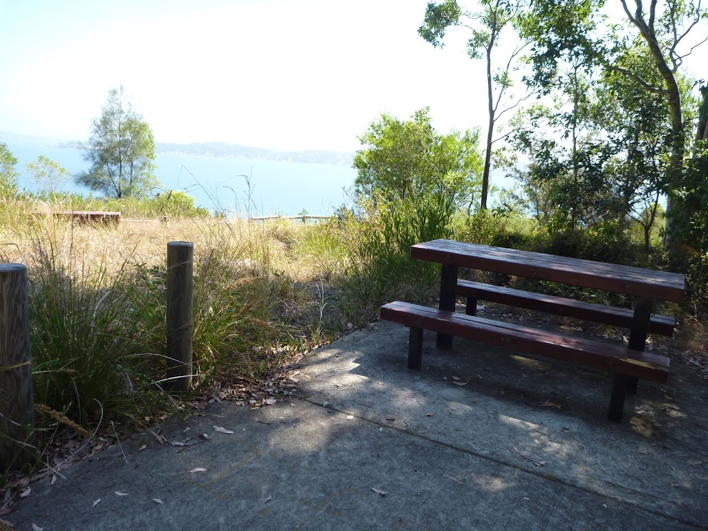 Picnic table near upper lookout, Sea Eagle Picnic Area