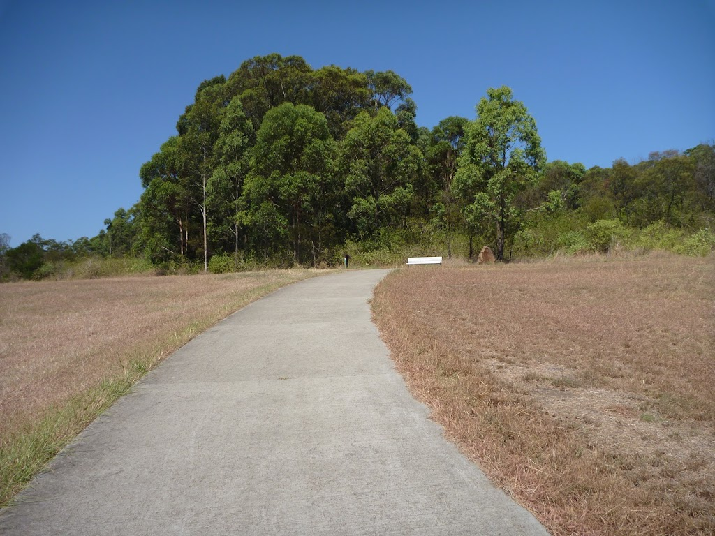 Open grasslands next to a path in Green Point Reserve