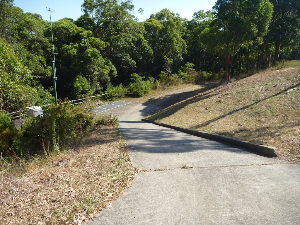Fire trail and culvert behind houses in Green Point Reserve