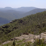 View into valley from Mt Hay track